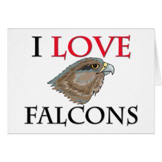 Cartão Eu amo Falcons