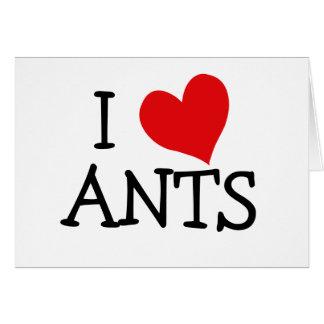 Cartão Eu amo formigas