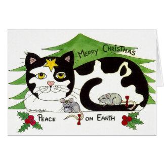 Cartão Eu amo gatos