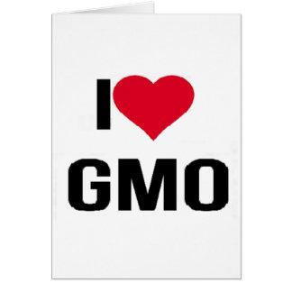 Cartão Eu amo GMO