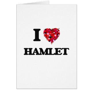 Cartão Eu amo Hamlet