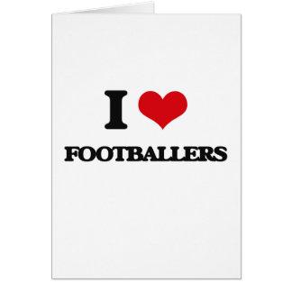 Cartão Eu amo jogadores de futebol