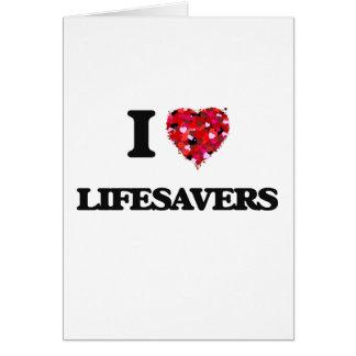 Cartão Eu amo Lifesavers