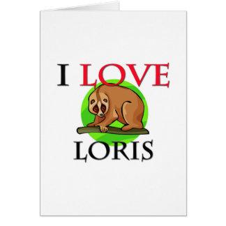 Cartão Eu amo Loris