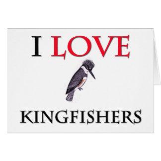 Cartão Eu amo martinhos pescatorees