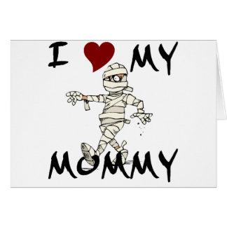 Cartão Eu amo meu artigo da mamã