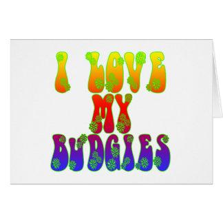 Cartão Eu amo meu Budgies