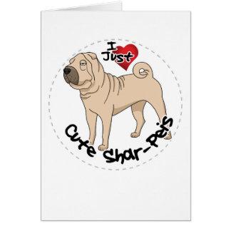 Cartão Eu amo meu cão engraçado & bonito adorável feliz