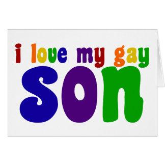 Cartão Eu amo meu filho alegre
