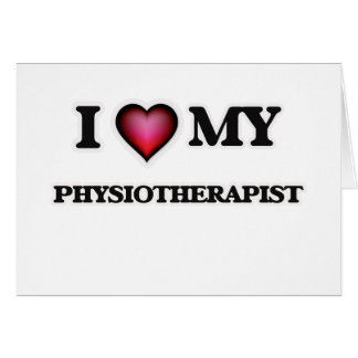 Cartão Eu amo meu fisioterapeuta