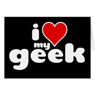 Cartão Eu amo meu geek