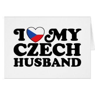 Cartão Eu amo meu marido checo