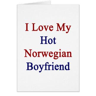 Cartão Eu amo meu namorado norueguês quente