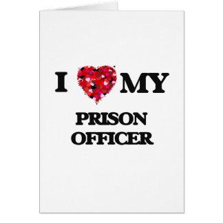 Cartão Eu amo meu oficial de prisão