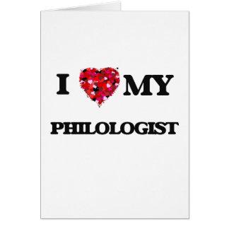 Cartão Eu amo meu Philologist