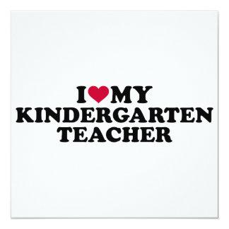 Cartão Eu amo meu professor de jardim de infância