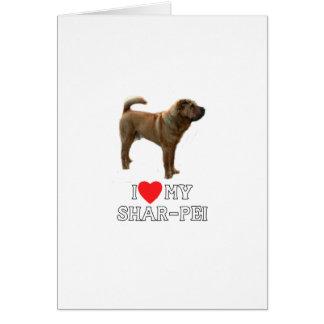 Cartão Eu amo meu Sharpei