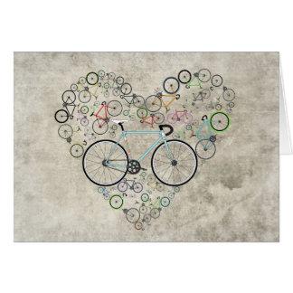 Cartão Eu amo minha bicicleta