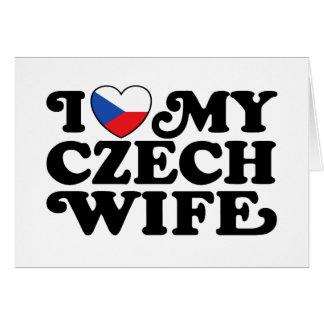 Cartão Eu amo minha esposa checa