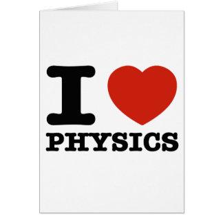 Cartão Eu amo minha física