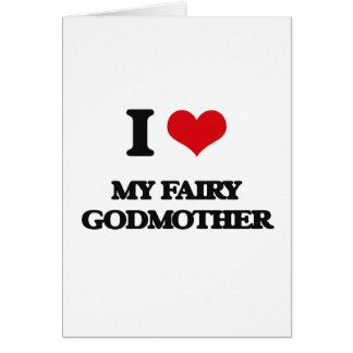Cartão Eu amo minha madrinha feericamente