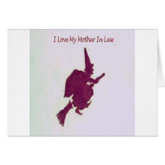 Cartão Eu amo minha mãe em law1