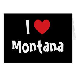 Cartão Eu amo Montana