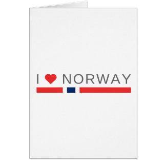 Cartão Eu amo Noruega