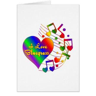 Cartão Eu amo o Bluegrass
