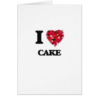 Cartão Eu amo o bolo