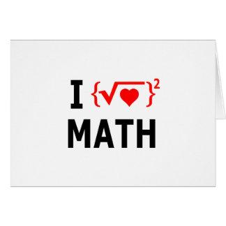 Cartão Eu amo o branco da matemática
