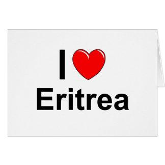 Cartão Eu amo o coração Eritrea