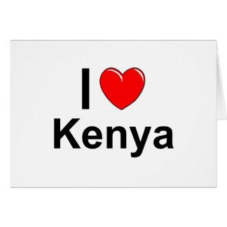 Cartão Eu amo o coração Kenya
