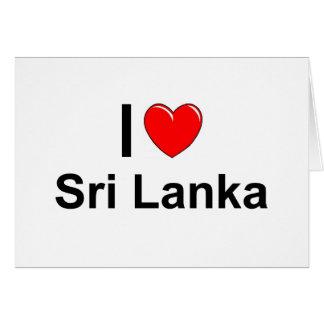 Cartão Eu amo o coração Sri Lanka