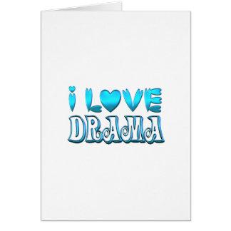 Cartão Eu amo o drama