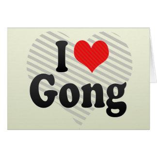 Cartão Eu amo o gongo