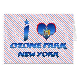 Cartão Eu amo o parque do ozônio, New York