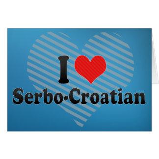 Cartão Eu amo o serbo-croata