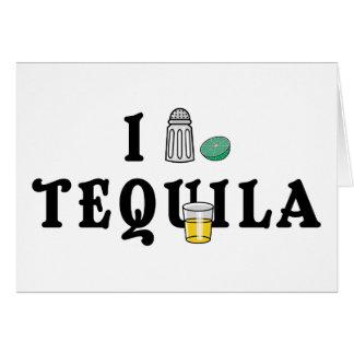 Cartão Eu amo o Tequila