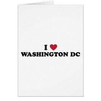 Cartão Eu amo o Washington DC