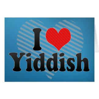 Cartão Eu amo o Yiddish