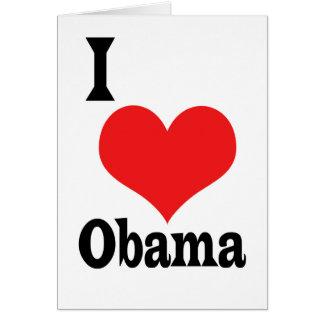 Cartão Eu amo Obama