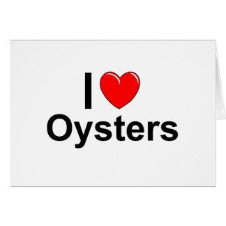 Cartão Eu amo ostras de Hearrt
