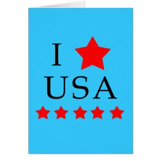 Cartão Eu amo produtos dos EUA