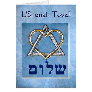 Cartão Eu amo Rosh Hashona