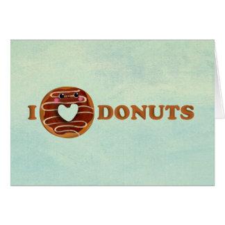 Cartão Eu amo rosquinhas