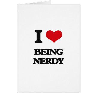 Cartão Eu amo ser Nerdy
