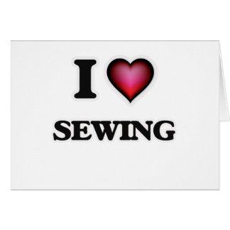 Cartão Eu amo Sewing