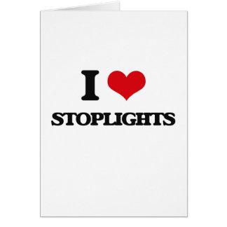 Cartão Eu amo sinais de trânsito