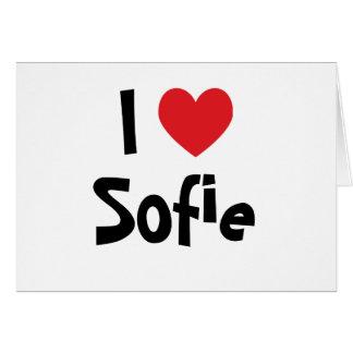 Cartão Eu amo Sofie